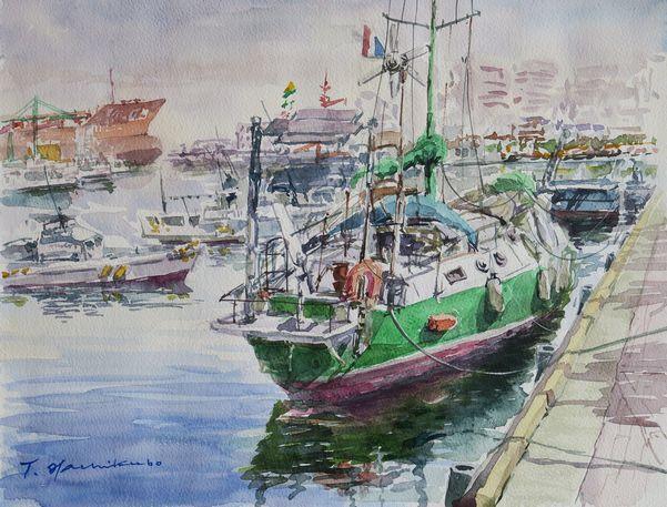 博多漁港のヨット601pix